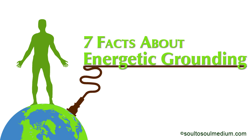"Header image for the article ""7 Facts On Grounding"". Image states the words ""6 Facts On Grounding"" in green. The words are centered right on the page with a brown line underneath. This line has a cord with a plug which extends into a graphic of the earth, the earth is in the bottom of the left side of the page. On top of the earth is a silhouette of a man, colored green. Beneath each his feet are brown roots growing into the earth."