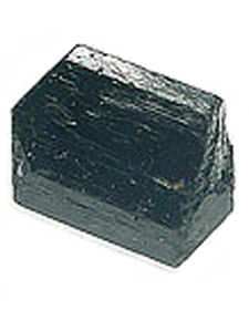 Image of a piece of black tourmaline